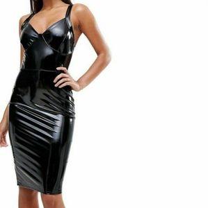 High Shine Bodycon Midi Dress